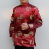 เสื้อตรุษจีนผู้ชาย แขนยาว สีแดงเลือดหมู ลายอู่ฝู